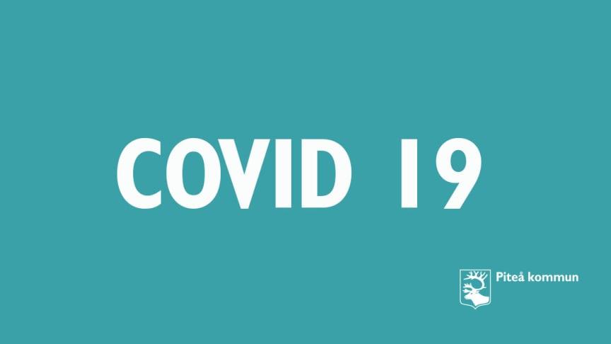 Ett bekräftat fall av covid-19 på äldreboende i Piteå kommun