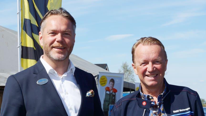 Nolias vd, Tommy Abrahamsson tillsammans med Erikki Hanhirova, vd Toranda Events är nöjda med första dagen och laddar för storpublik under lördagen.