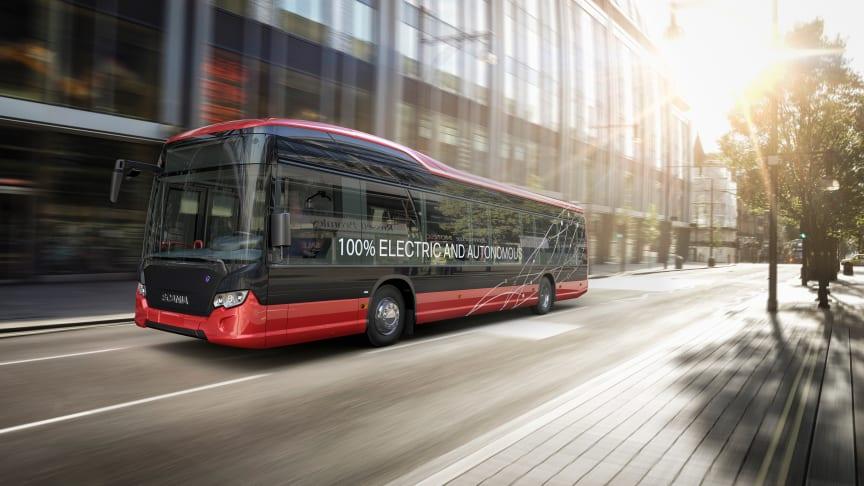 Scania og Nobina, Nordens største aktør inden for kollektiv trafik, samarbejder om at afprøve selvkørende busser på almindelige ruter i Stockholm-området