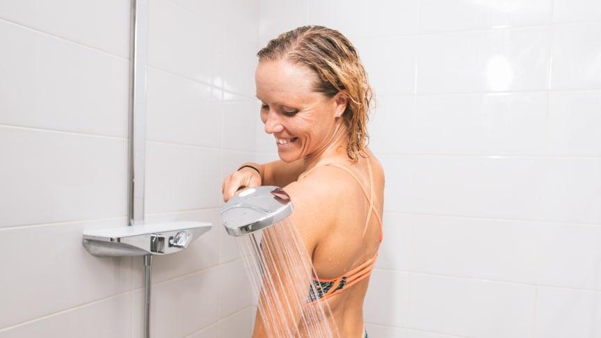 Triatlet Kaisa Sali bruger varme- og kuldebehandlinger i forbindelse med hendes sport.