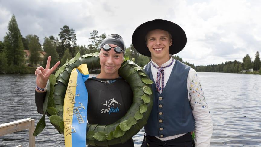 Ellen Olsson tog hem segern i Vansbro Tjejsim. Foto: Mickan Palmqvist, Ateljé L-Foto