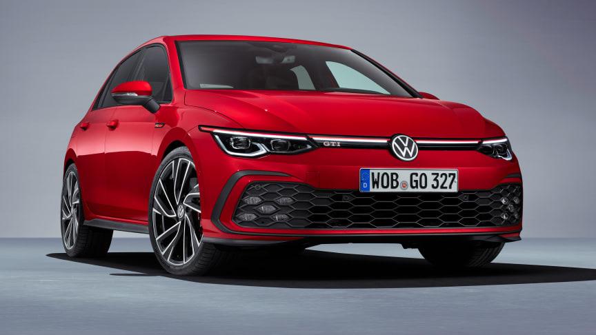Golf 8 GTI er en af de nyheder, der kan opleves på den virtuelle tour rundt på Volkswagens stand.