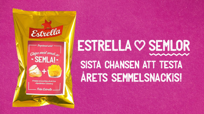 På Estrellas Facebook och Instagram pågår nu en utlottning om de sista påsarna.