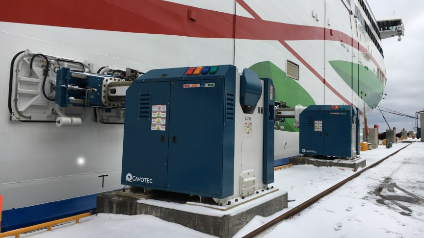One of our automated mooring applications at a passenger ferry berth in Finland.