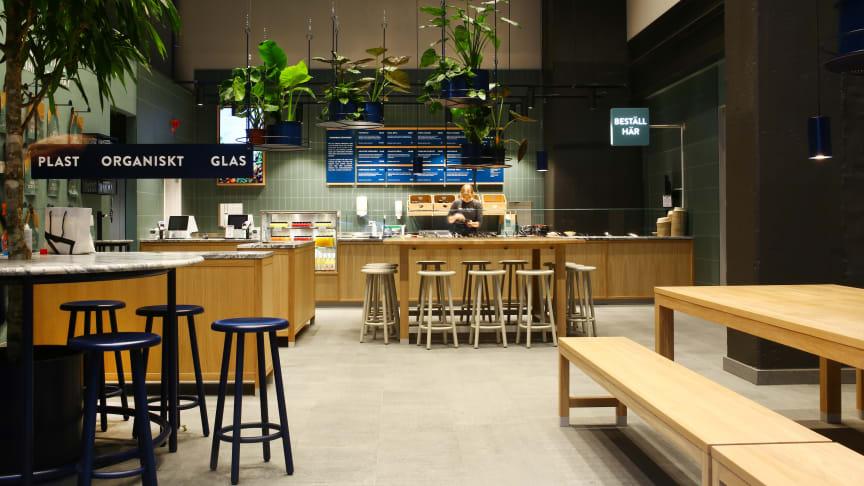 Holy Greens nya restaurang har gett nytt liv åt en gammal industrilokal. Foto: Jonas Wimmerström