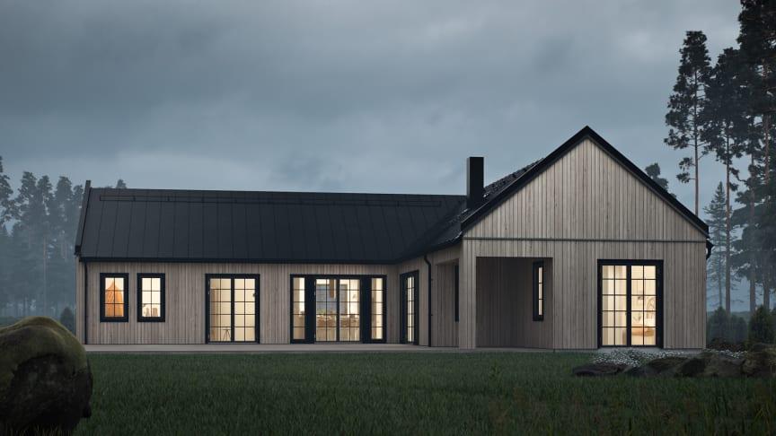 Nya husmodellen Nymåne i stilen Industriell