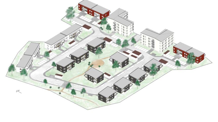 Byggstart närmar sig för 116 hyresrätter i Ribby Ängar, Västerhaninge