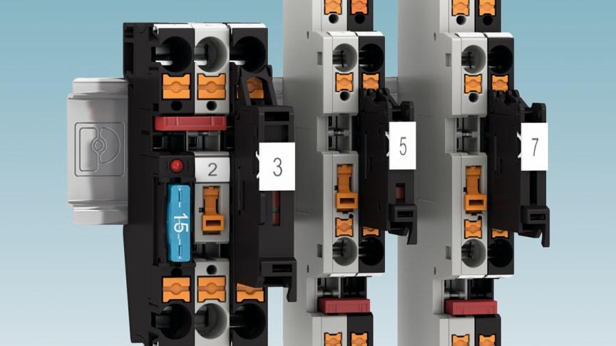 PT-plintar med säkringshållare och knivfrånskiljare
