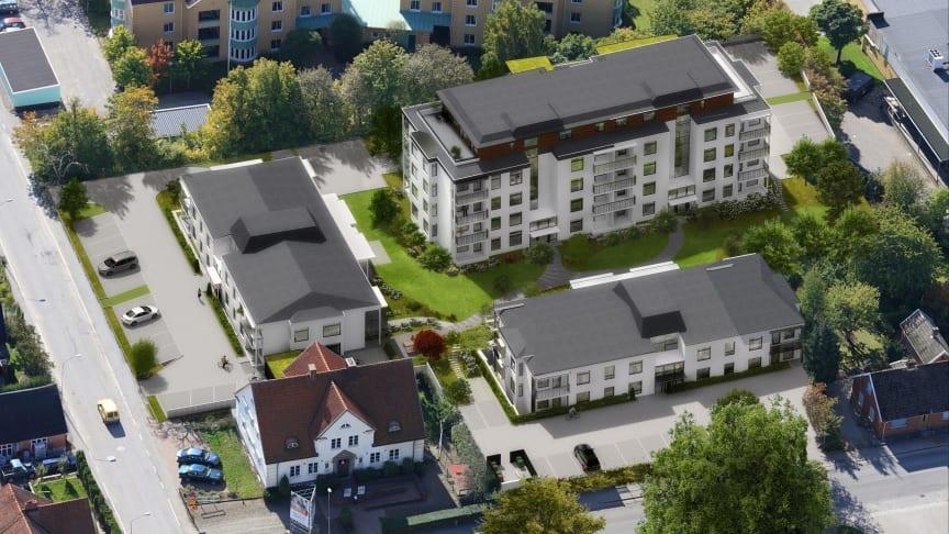Första spadtaget för nytt seniorboende i Dalby