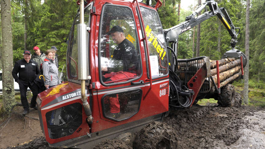The Alstor 840 Pro is the company's first machine with hydrostatic transmission. Photo: Elmia AB