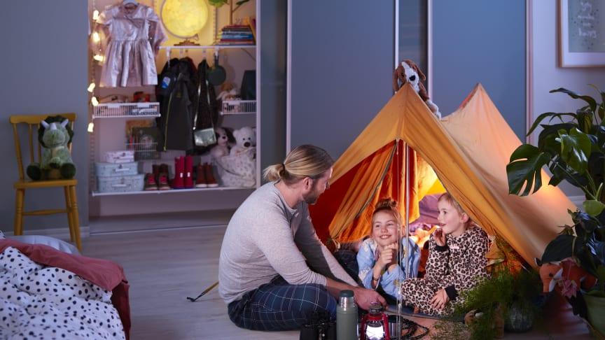 Elfa_Hitta nya förvaringsytor i barnens rum.