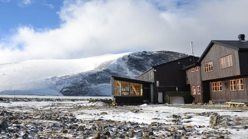 Juvasshytta. Foto og utforming: Ram Arkitektur Lillehammer.