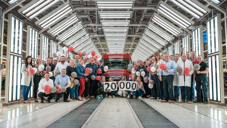 Den 20 000:e MAN TGE har rullat av produktionslinan