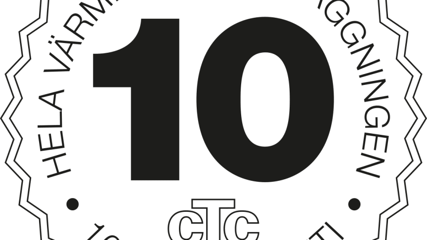 CTC introducerar 10 års garanti.