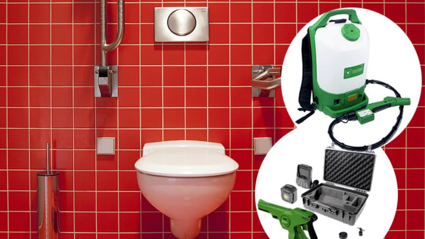 Elektrostatiska sprutor gör att du kan rengöra och sanera i svåråtkomliga skrymslen.