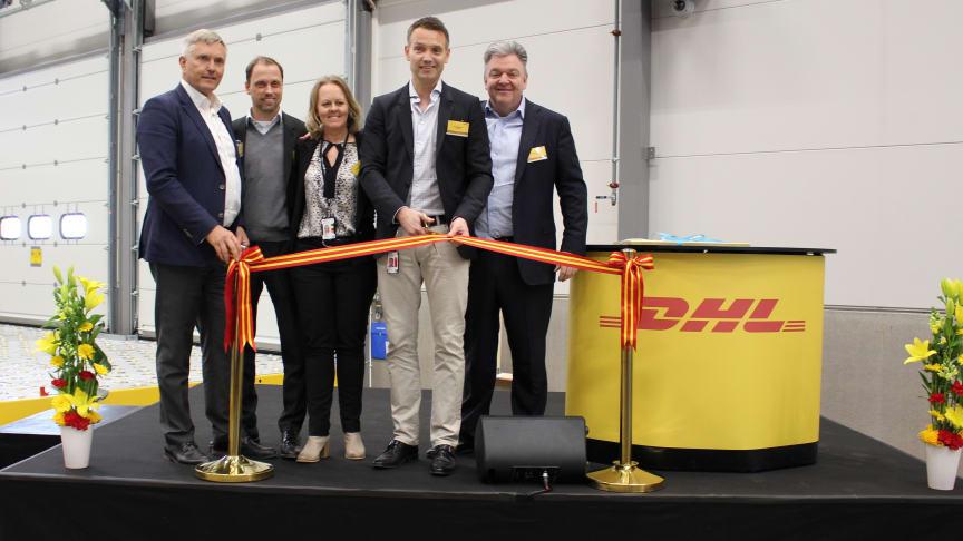 Invigning av DHL Express nya terminal på Landvetter flygplats