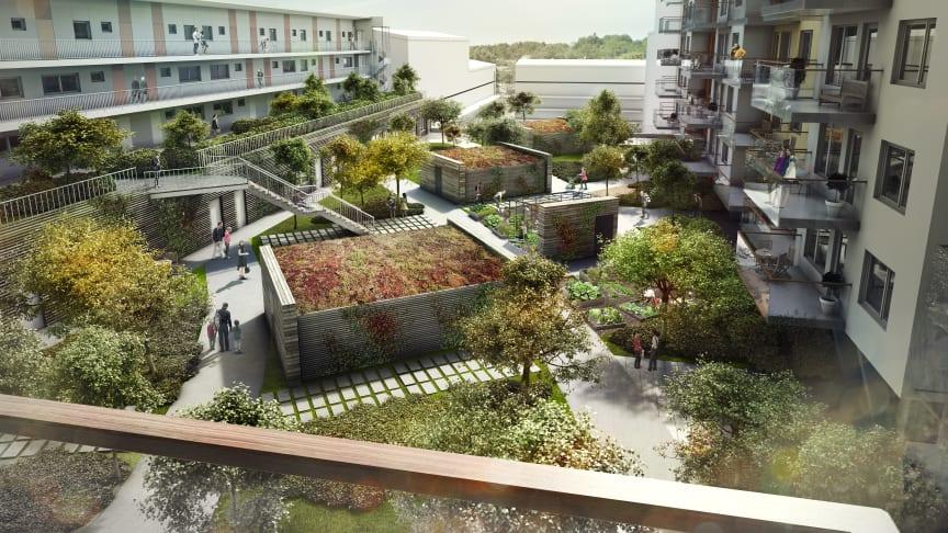 Riksbyggen satsar i Mölndals nya innerstad