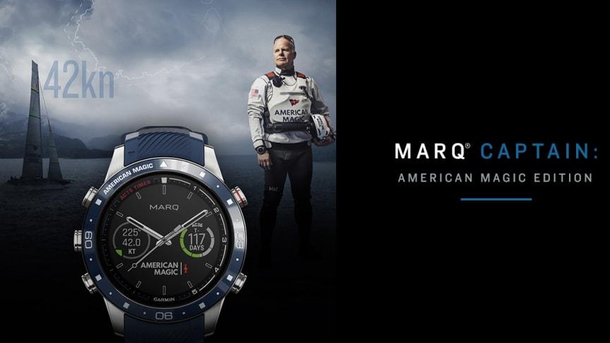 Garmin® beriger sin luksuriøse urkollektion med MARQ® Captain: American Magic Edition