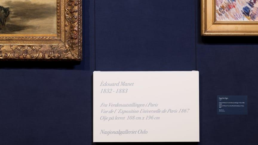 Dag Erik Elgin Édouard Manet, Fra Verdensutstillingen i Paris, Vue de l´Exposition Universelle de Paris, 1867, 2010.