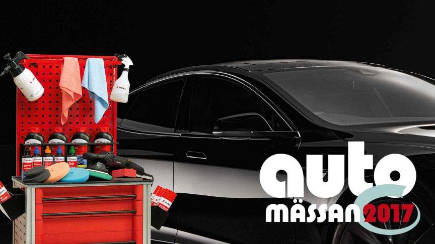 Würth ställer ut på Automässan 2017, där de bl.a. visar sina bilvårdsprodukter för proffs.