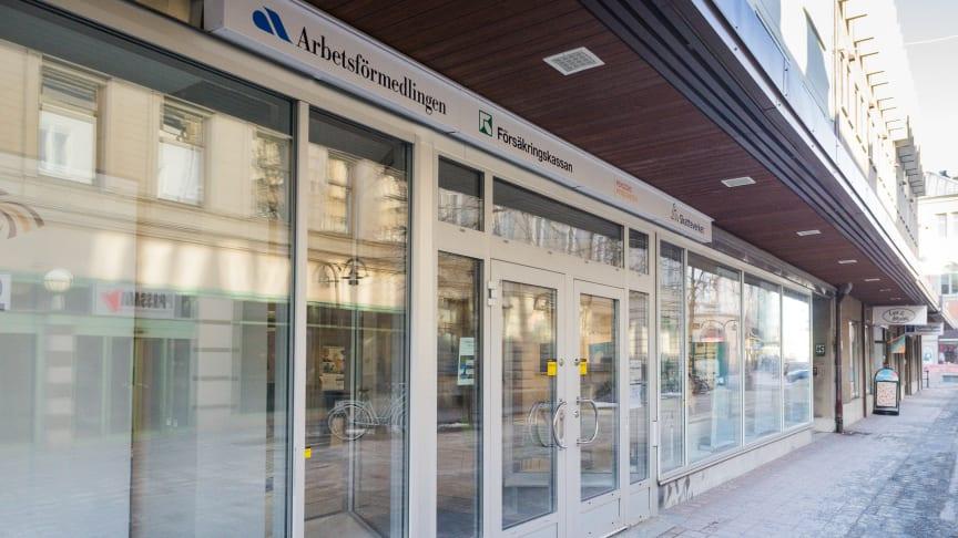 Arbetsförmedlingens kontor i Härnösand är ett av dem som föreslås läggas ned.