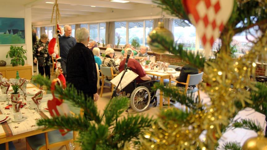 Julenstemning har holdt sit indtog på Lokalcenter Bøgeskovhus i Viby J. ved Aarhus. Foto: Jannik Preisler.