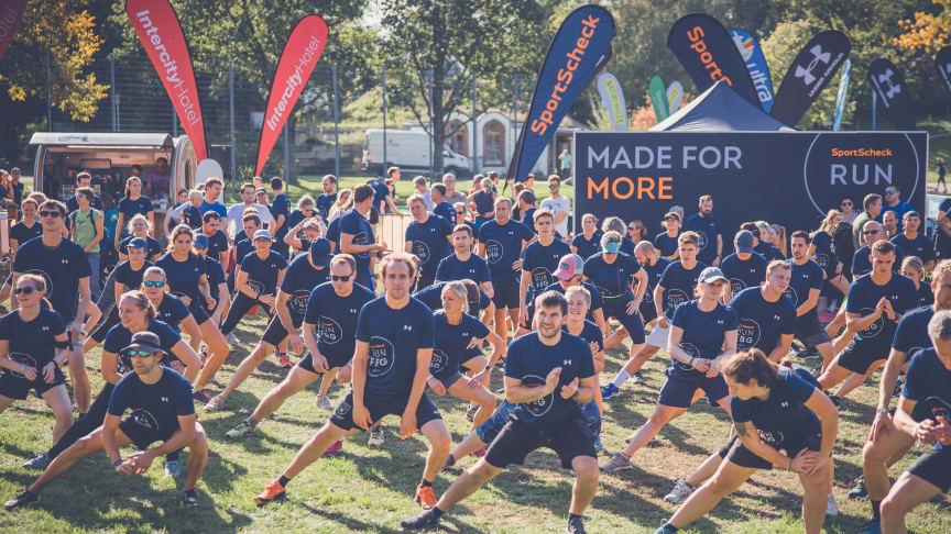 Warm-up zum SportScheck RUN in Freiburg 2019