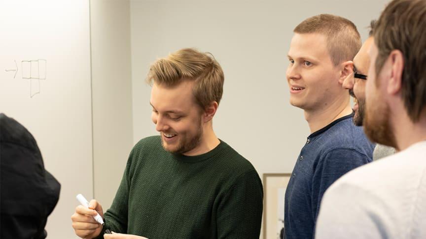 Alexander Bergqvist och Andreas Boldizar på Pulsen Retail. Foto Nadia Tahir/Pulsen