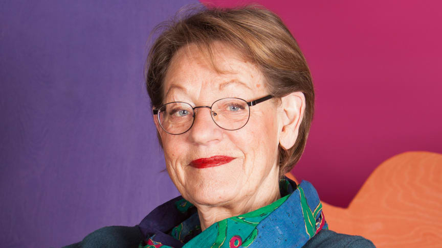 Gudrun Schyman kommer till Falkenberg. Foto: Oscar Stenberg.
