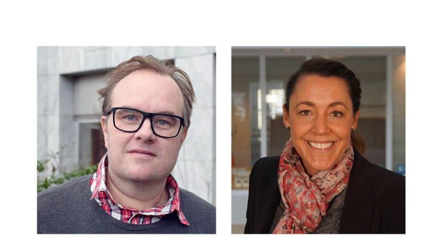 Från vänster: Nils Karlsson och Sara Torres, funktionsstöds- och tillgänglighetssamordnare vid funktionsstödsförvaltningen i Malmö stad