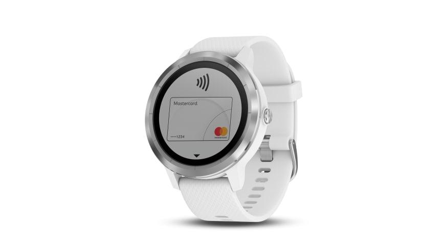 Die digitale VIMpay Mastercard macht das Smartwatch-basierte Bezahlen unter anderem auf der vívoactive 3 möglich.