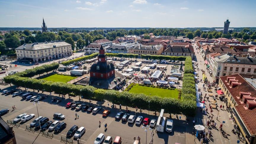 Nya stadens torg, Lidköping. Foto: Patrik Borgenhard