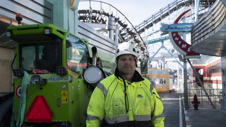 Dejan Stanojkovic, maskinförare på Gröna Lund.
