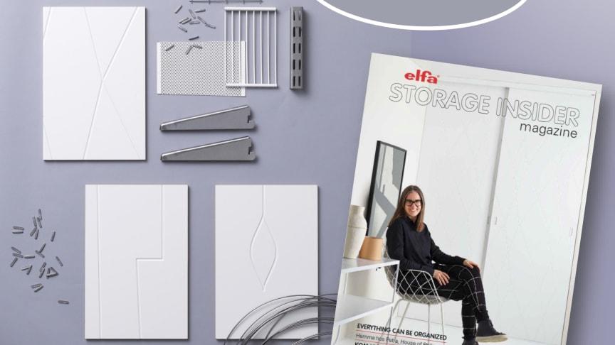 Nytt nummer av Elfa The Storage Insider magazine.