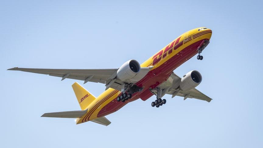 Et af DHL Express' nye Boeing 777 fly