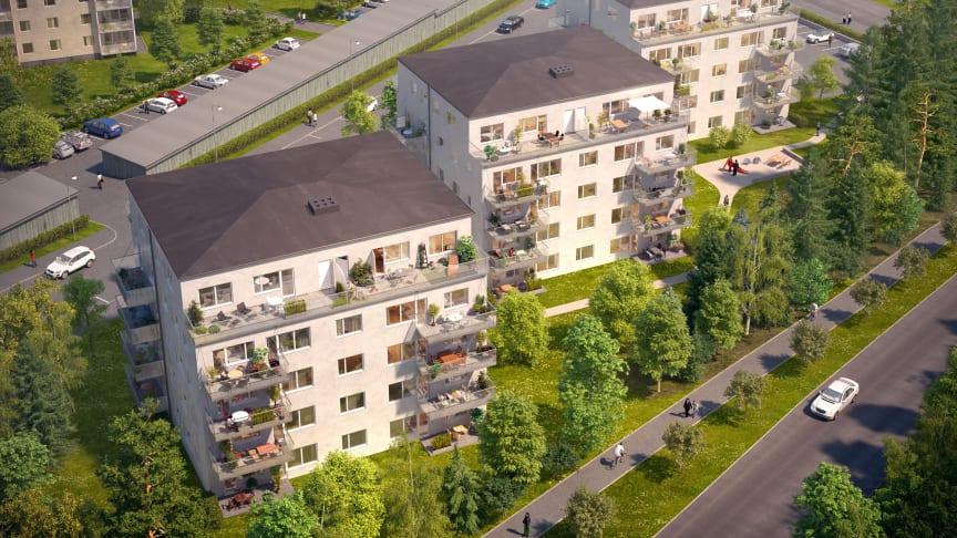 Pressinbjudan: Dags för första spadtaget för Riksbyggens Brf Södra Ängen i Viksjö