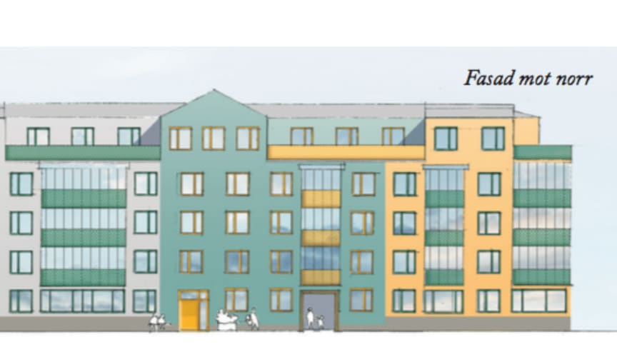 Visionsbild av hur de nya husen kan komma att se ut.
