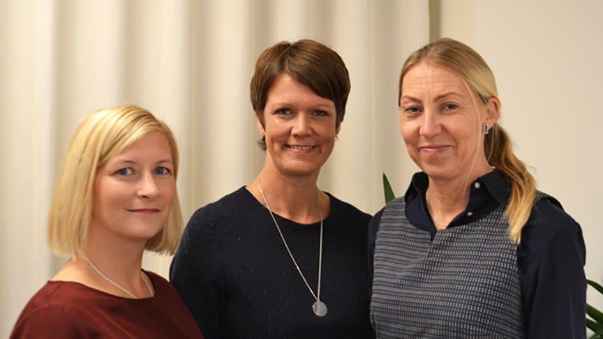 Josefine Wikström, Linda Leppänen, Maria Hagman