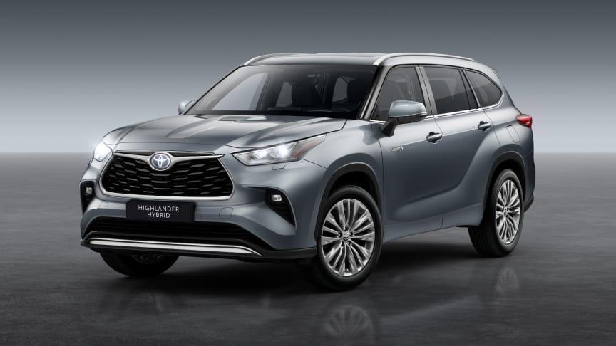 Toyota lanserer 7-seteren  Highlander i Europa