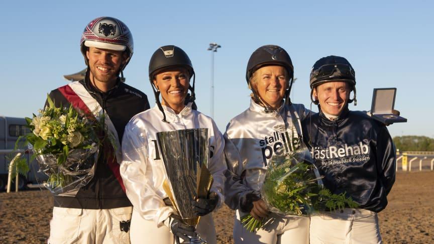 Klara Hammarström vann premiärupplagan av Hästarnas Mästare på Jägersro Galopp förra året. Foto: Stefan Olsson/Svensk Galopp