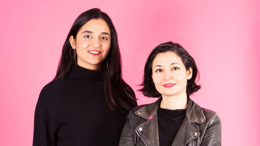 Farida al-Abani och Gita Nabavi leder Feministiskt initiativ in i framtiden. Foto: Oscar Stenberg.