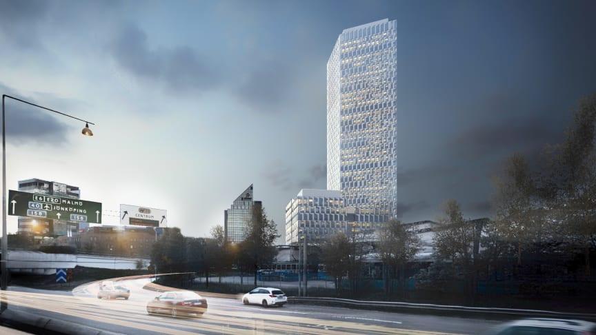 Nordens högsta kontorsbyggnad får ett modernt automationssystem