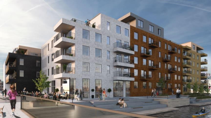 Byggstart för Riksbyggens Brf Oceankajen i Helsingborg