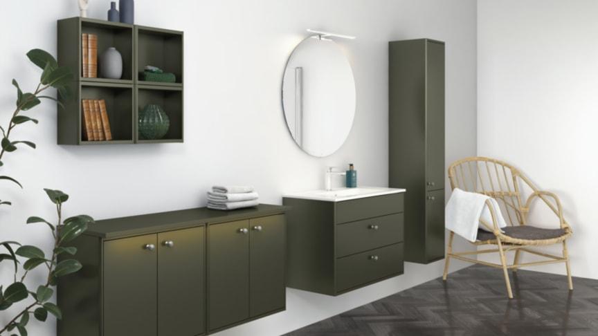 Villeroy & Boch Gustavsbergs populära möbelserie Graphic finns nu i trendigt grönt