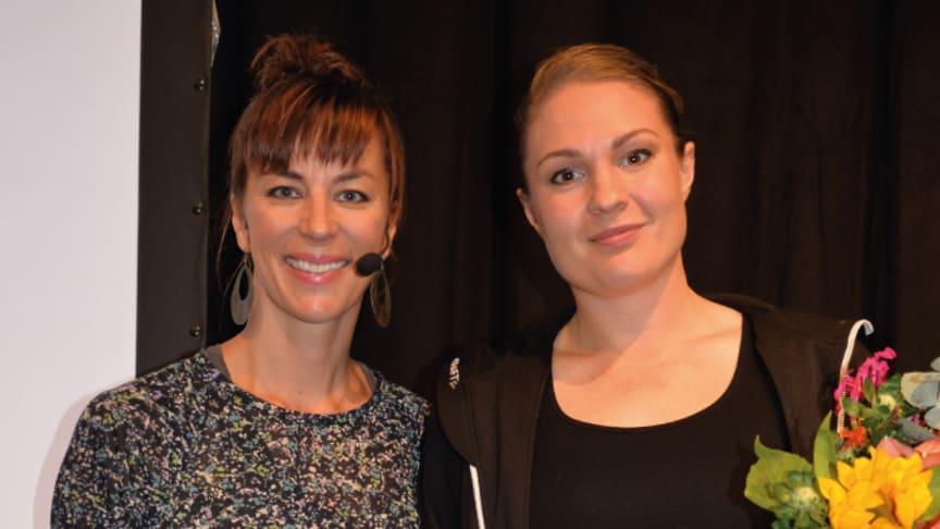 Isabelle McAllister, grundare av Isabellestipendiet och juryns ordförande och plåtambassadören Mathilda Klinger Danielsson