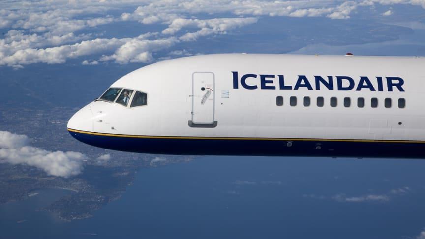 Icelandair matkustajamäärät + 15 % kasvussa