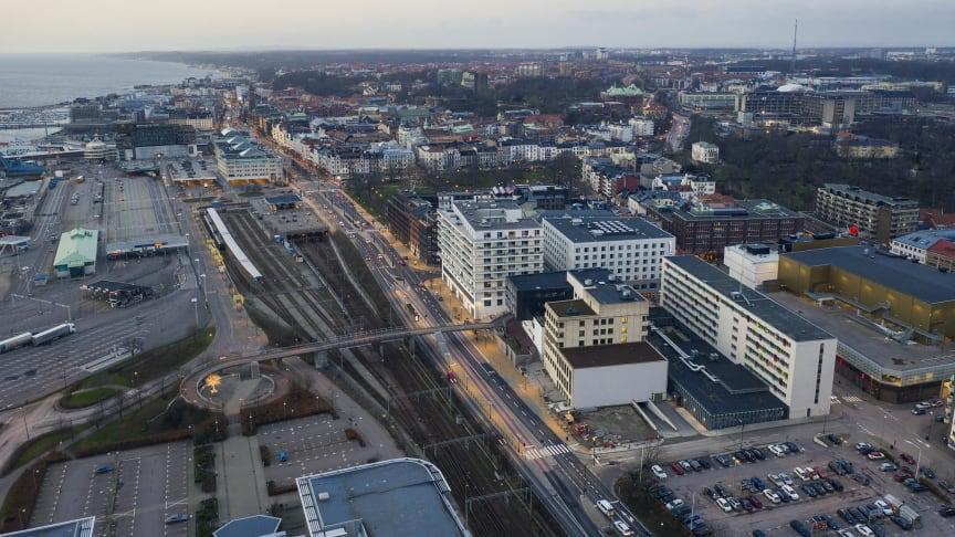 Helsingborgs tingsrätt drönarbild
