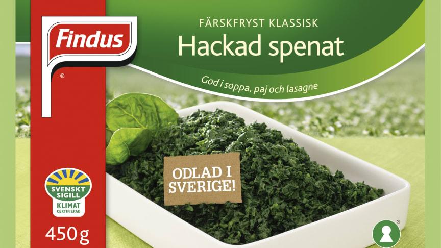 Findus först med klimatcertifierade grönsaker från Svenskt Sigill