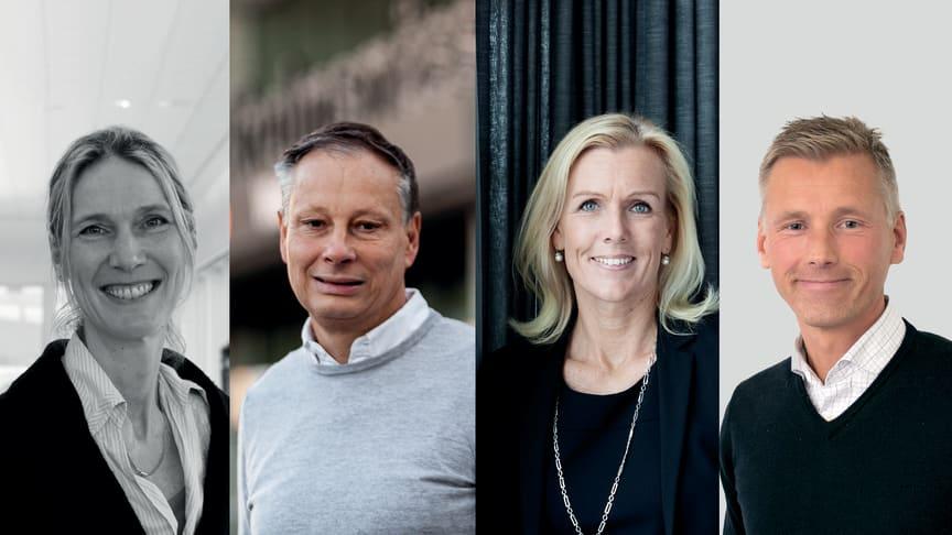 Fr vänster: Lotta Frenssen, Christian Clemens, Carin Kindbom, Joachim Warnberg