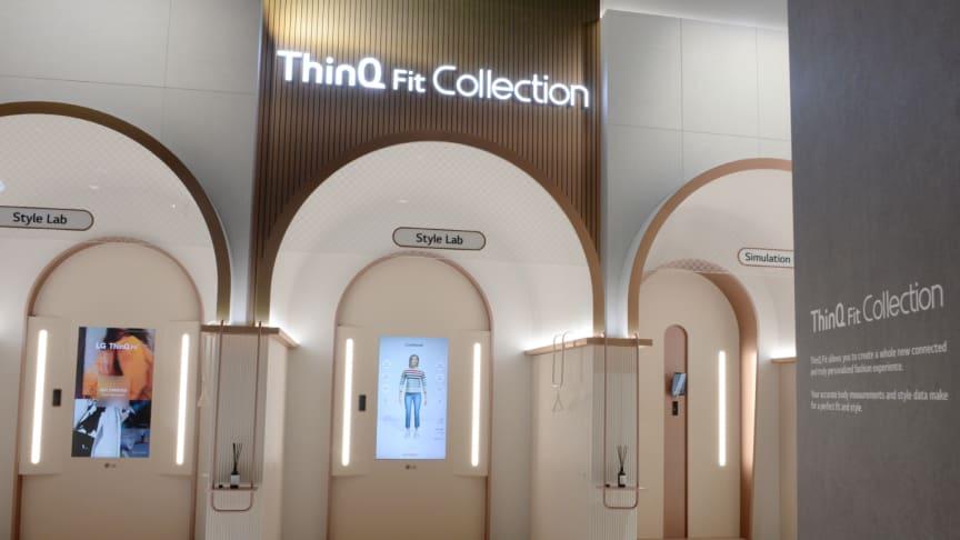 VIRTUELT PRØVERM: I ThinQ Fit Collection lages det en virtuell avatar av deg, som kan prøve på klær. Du for også forslag til hvor disse kan kjøpes.